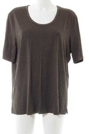 Samoon T-Shirt grüngrau schlichter Stil