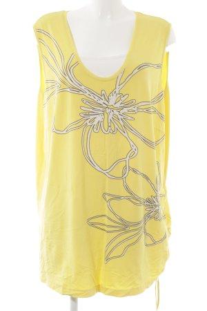 Samoon Trägertop weiß-gelb Blumenmuster Casual-Look