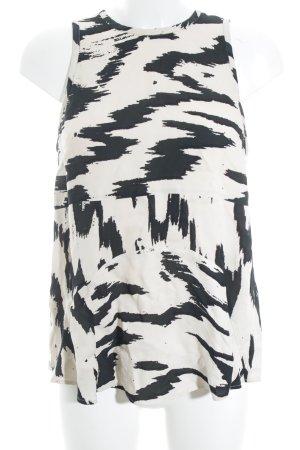 Samsøe & samsøe Camisa de mujer crema-negro estampado con diseño abstracto