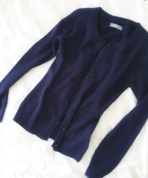 Samsoe & Samsoe Cardigan Luxus Cardigan marineblau Baumwolle 34 XS