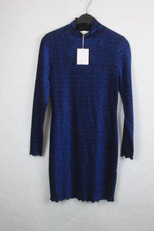 SAMSOE & SAMSOE Kleid Gr. S schwarz blau Glitzerfäden (18/9/005)