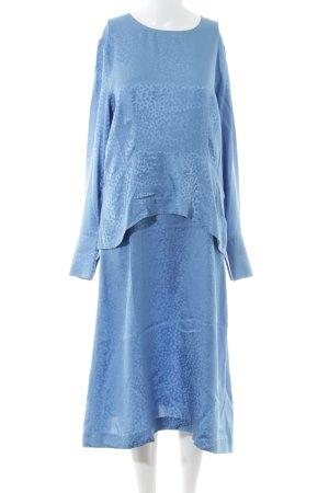 Samsøe & samsøe Langarmkleid blau 70ies-Stil