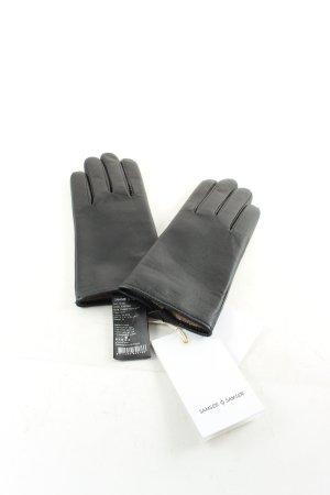 Samsøe & samsøe Leren handschoenen zwart klassieke stijl