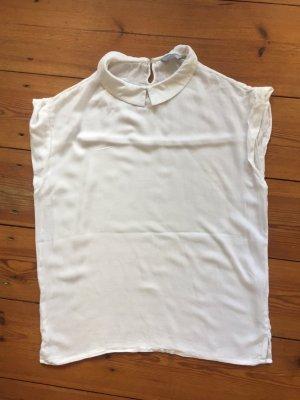 Samsøe & Samsøe: Originelles Shirt, weiß mit Kragen, Gr. M