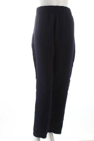 Samsøe & samsøe Stoffhose dunkelblau-schwarz Streifenmuster klassischer Stil