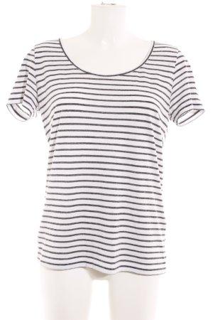 Samsøe & samsøe Camiseta blanco-gris antracita estampado a rayas