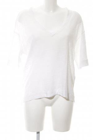 Samsøe & samsøe V-Ausschnitt-Shirt weiß Casual-Look
