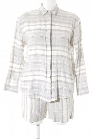 Samsøe & samsøe Woven Twin Set natural white-azure striped pattern casual look