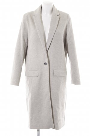 Samsøe & samsøe Abrigo de lana gris claro-beige claro moteado estilo clásico