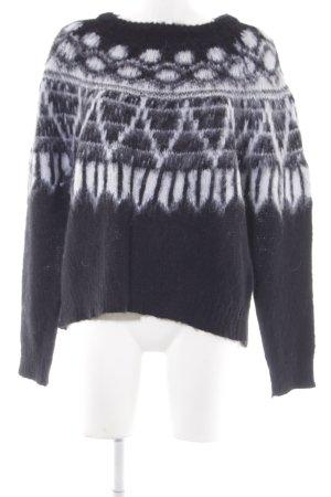 Samsøe & samsøe Wollpullover abstraktes Muster Casual-Look