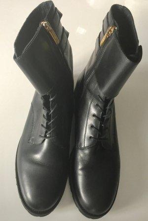 ** SAMSONITE * neuwertige BOOTS  BIKERSTIL STIEFELETTEN LEDER schwarz Gr 41