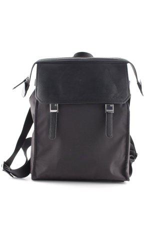 Samsonite Notebookrucksack schwarz-silberfarben schlichter Stil