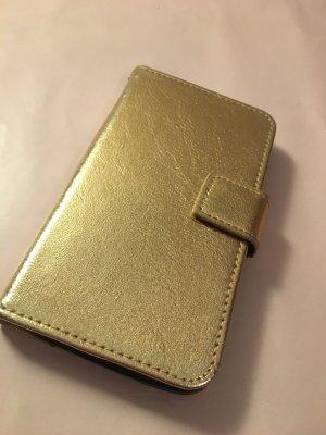 Étui pour téléphone portable doré-bronze