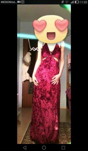 Samt Abendkleid Figurbetont