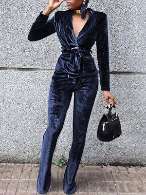 Tailleur pantalone blu scuro