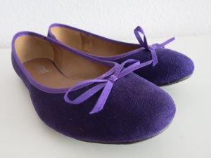 Ballerina Mary Jane viola scuro-blu-viola