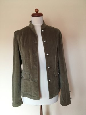 Samt-Blazer/Fieldjacket in Khaki von Lisa Steuten