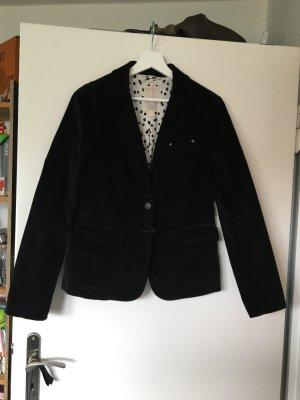 Esprit Jersey blazer zwart Katoen