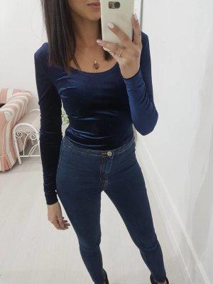 Blusa tipo body azul oscuro