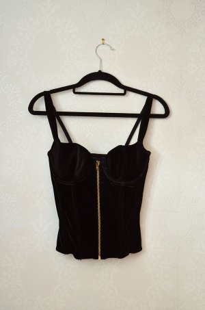 H&M Corsage Top black-gold-colored