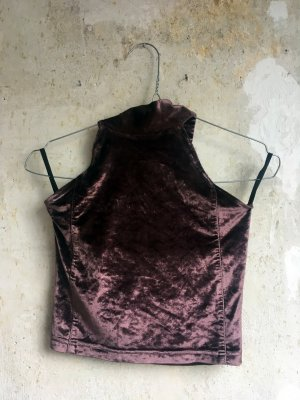 Crop-top gris lilas