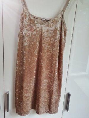 Zara Robe à bretelles rose chair-beige