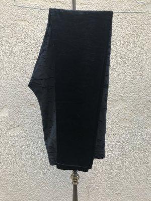 Samt Leggings schwarz