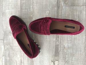 Samt Loafer dunkelrot / Bordeaux