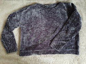 Samt Pullover anthrazir grau