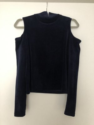 Samt Pullover mit Schulter Cut-Outs