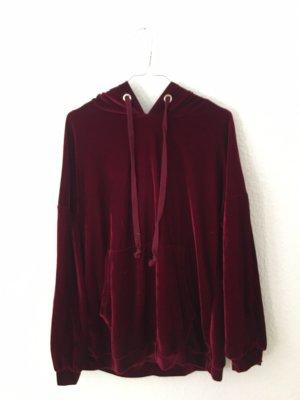 Zara Jersey con capucha burdeos-rojo oscuro
