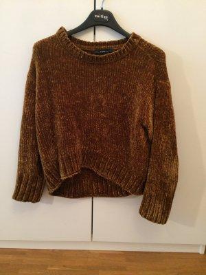 Samt Pullover von Zara