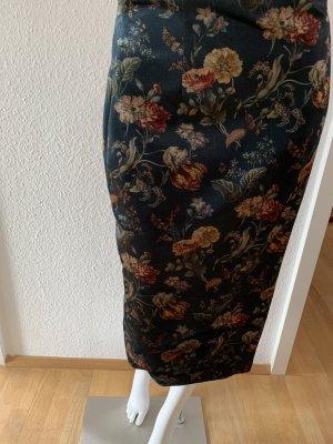 Zara Falda de tubo marrón-negro