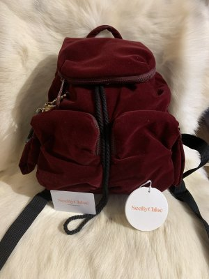 SeeByChloé Mini sac à dos bordeau-noir