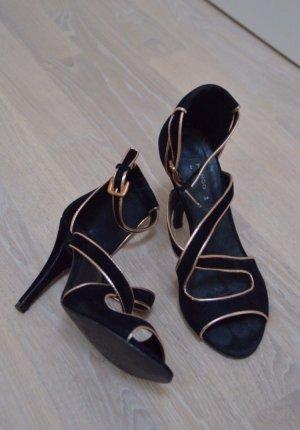 Samt-Sandaletten von Mango, Größe: 38