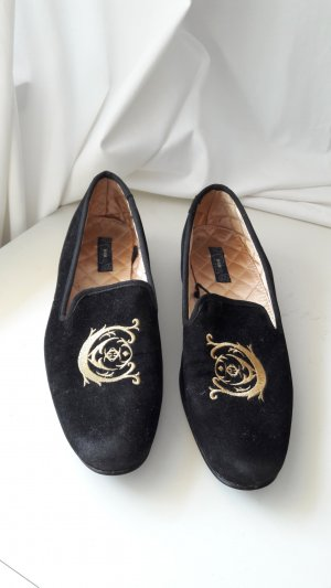 HM Slippers black-gold-colored