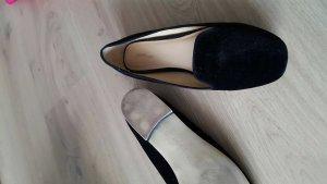 Samt Slipper von Zara Gr 41 schwarz