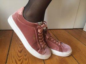 Samt Sneaker Rosé Schlangenmuster Gr. 41 Neuwertig