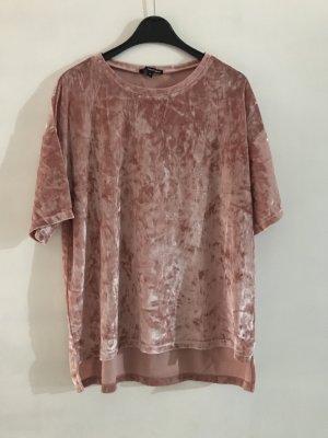 Samt T-Shirt Oberteil rosé neu