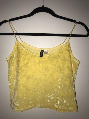 H&M Top con bretelline giallo