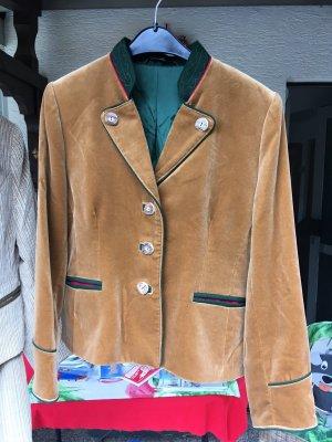 Veste bavaroise marron clair-chameau