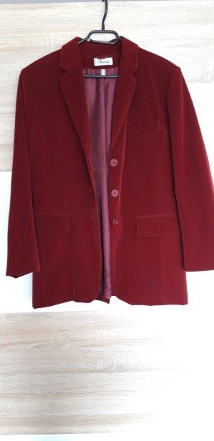 Blazer largo rojo oscuro-rojo Viscosa