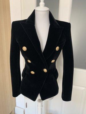 Balmain Blazer de lana negro