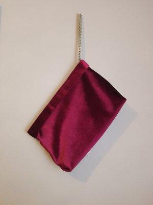 Samtclutch von Zara bordeux rot