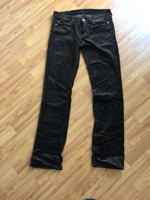 7 For All Mankind Pantalon brun foncé