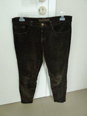 J brand Pantalon cinq poches brun foncé-brun noir coton