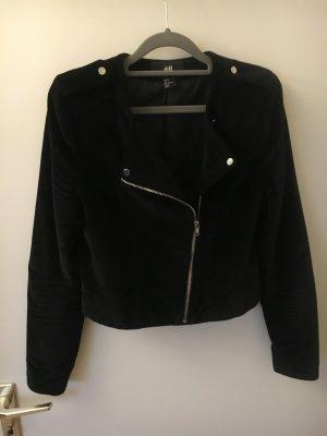 Samtjacke Blazer Jacke schwarz H&M 36 S