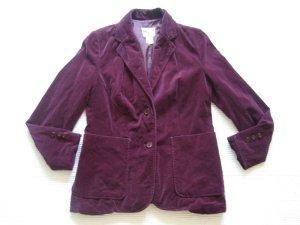 samtjacke blazer vintage gr. s 36 burgund lila