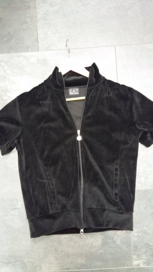 Emporio Armani Shirt Jacket black-silver-colored