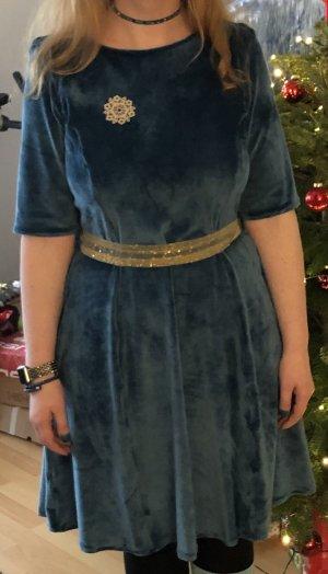 Vestido elástico turquesa